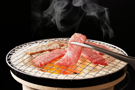 Photo pour Yakiniku, meaning grilled meat, is a Japanese food. - image libre de droit