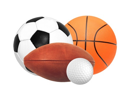 Sports balls isolated on white background