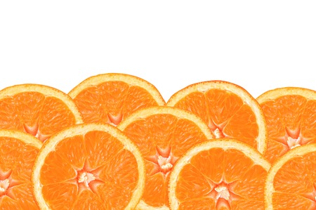 Photo for fresh orange slices on white background - Royalty Free Image