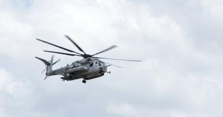 Foto de CH-53 Super Stallion helicopter in flight. Markings have been removed - Imagen libre de derechos