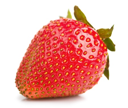 Photo for Strawberry macro isolated on white background - Royalty Free Image