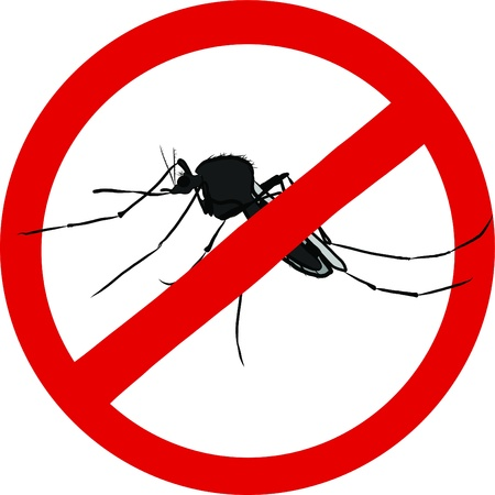 stop mosquito sign  insect repellent emblem