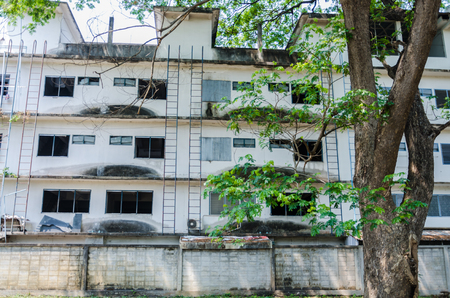 Photo for Abandoned building with trees - Royalty Free Image