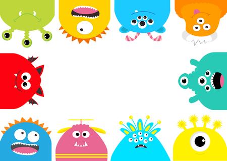 Illustration pour Monster frame vector illustration. - image libre de droit