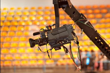 Photo for TV camera on a crane in studio - Royalty Free Image