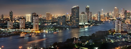 Photo for Bangkok city at twilight - Royalty Free Image