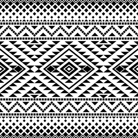 Illustration for Seamless pattern with tribal aztec motives. Aztec print. Aztec design. Abstract background with ethnic aztec ornament. - Royalty Free Image