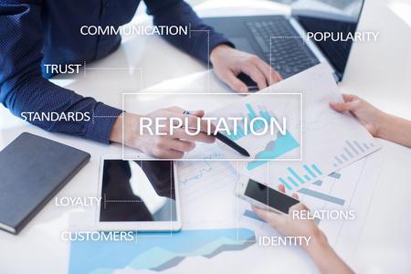 Photo pour Reputation and customer relationship business cocnept. - image libre de droit