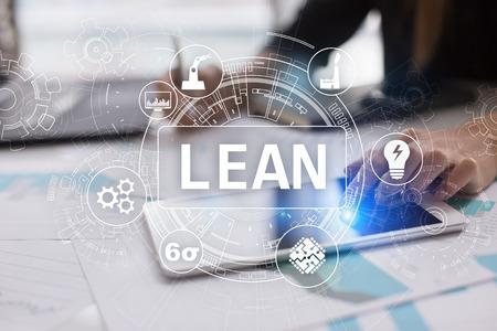 Photo pour Lean manufacturing. Quality and standardization. Business process improvement. - image libre de droit