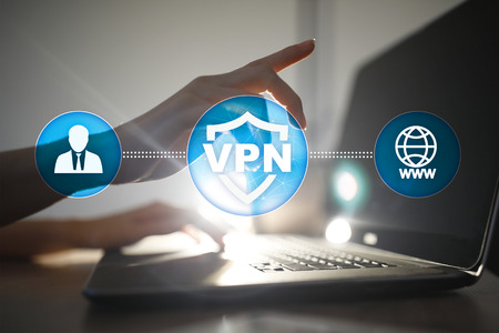 Photo pour VPN Virtual Private network protocol. Cyber security and privacy connection technology. Anonymous Internet. - image libre de droit