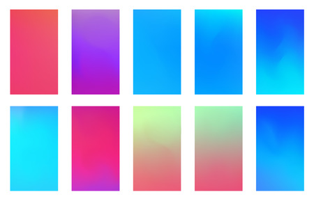 Ilustración de Soft color background. Modern screen vector design for mobile app. Soft color abstract gradients. - Imagen libre de derechos