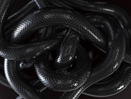 Photo pour Black Snakes Abstract Background - image libre de droit
