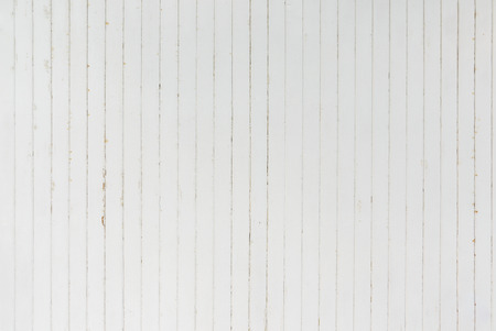 Photo pour background and texture of decorative detail old white wood stripe on surface wall - image libre de droit