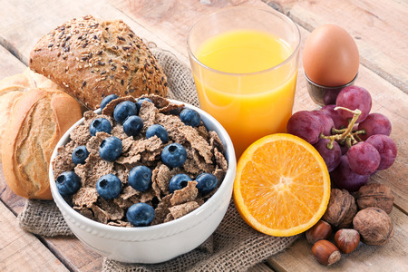 Photo for continental breakfast - food with background - Royalty Free Image