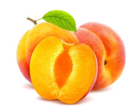 Photo for Apricots on white background - Royalty Free Image