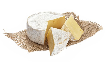 Photo for Camembert cheese isolated on white background with clipping path - Royalty Free Image