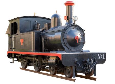 Photo pour retro locomotive isolated on white - image libre de droit