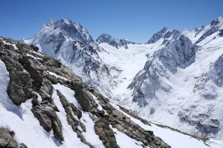 Mountains - Dombay, Main Caucasian ridge, abt. 4000m.