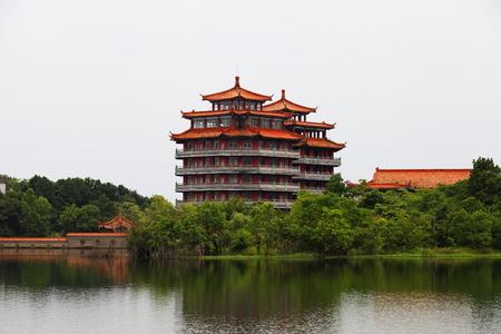 Foto de Mulan Lake scenery - Imagen libre de derechos