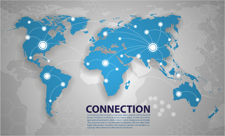 Illustration pour world map connection - image libre de droit