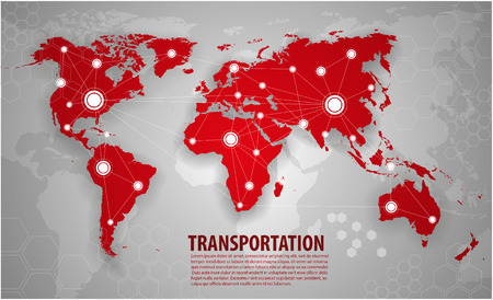 Illustration for World transportation and logistics - Royalty Free Image