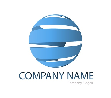 Business logo global graphic