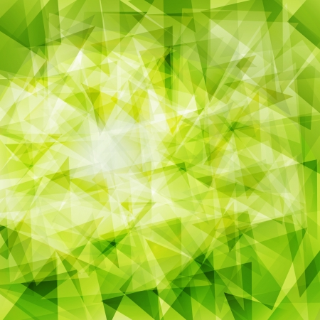Illustration for Green abstract geometrical background - Royalty Free Image