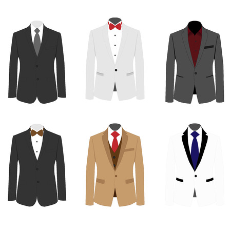 Illustration for differ set suit for mens - Royalty Free Image