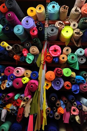 Photo pour Fabric textile rolls - image libre de droit