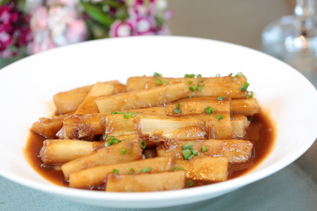 Photo for Braised Chinese yam with Scallion - Royalty Free Image