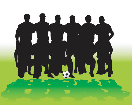 Soccer team - vector