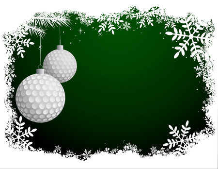 Golf Christmas Background
