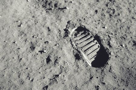 Foto per Step on the moon. - Immagine Royalty Free