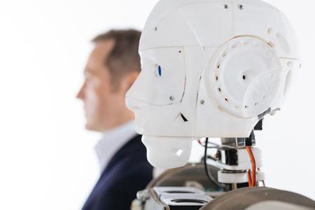 Foto de Profile picture of a robot and its prototype - Imagen libre de derechos