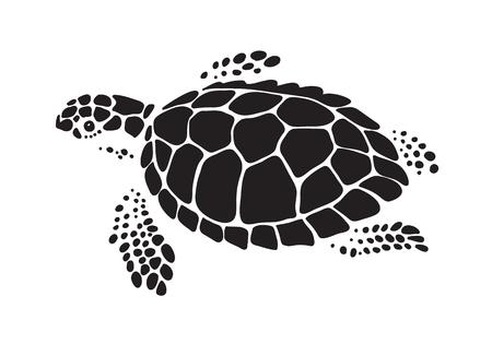 Illustration pour graphic sea turtle, vector - image libre de droit