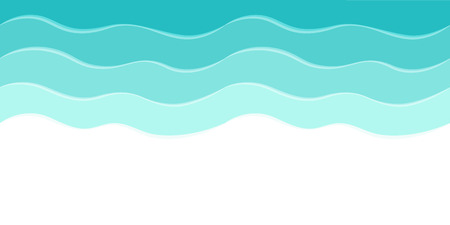 Ilustración de Vector sea background with abstract waves - Imagen libre de derechos