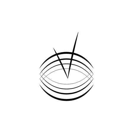 Ilustración de Modern logo fast simple stylised. Tick and wavy line. Creative illustration monochromatic. Abstract logo icon design template element for business. Brend-new design for biz. Vector illustration - Imagen libre de derechos