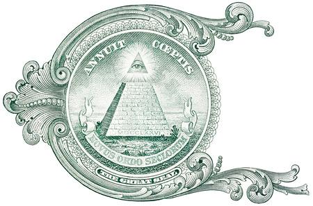 Foto de One dollar detail pyramid. - Imagen libre de derechos