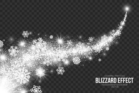 Illustration pour Snow Blizzard Effect on Transparent Background Illustration. - image libre de droit