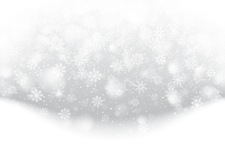Illustration pour Christmas card with falling snowflakes design. - image libre de droit