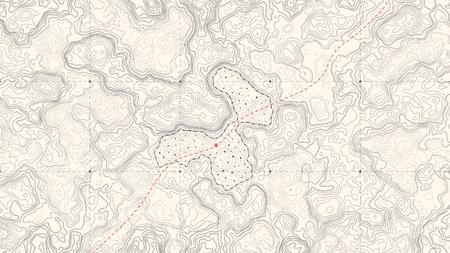 Illustration pour Vintage Detailed Contour Topographic Map Of Wild West Abstract Vector Background - image libre de droit