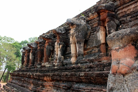 Photo for Ancient remains place in history Kamphaeng Phet park in Thailand - Royalty Free Image