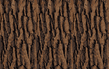 Illustration pour Seamless tree bark texture. Endless wooden background for web page fill or graphic design. Oak or maple vector pattern - image libre de droit