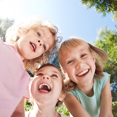 Photo for Happy children having fun in spring - Royalty Free Image