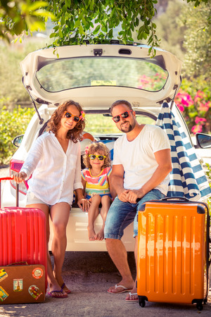 Foto per Family going on summer vacation. Car travel concept - Immagine Royalty Free
