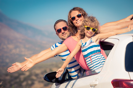 Foto für Family on vacation. Summer holiday and car travel concept - Lizenzfreies Bild