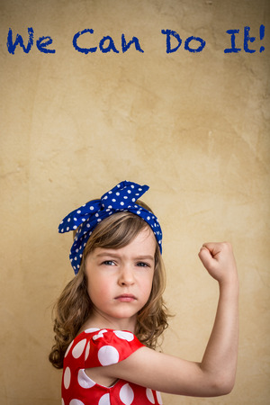 Foto per We can do it. Symbol of girl power and feminism concept - Immagine Royalty Free