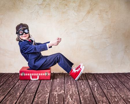 Photo pour Portrait of young businessman in office. Success, creative and innovation concept - image libre de droit