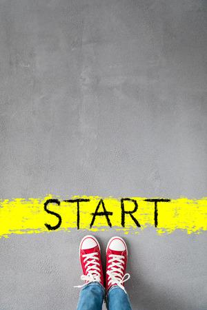 Photo pour Start! Healthy lifestyle concept - image libre de droit