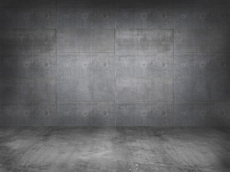 Photo for concrete wall with concrete floor,3d - Royalty Free Image
